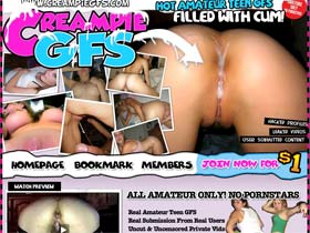 Welcome to Creampied GFs - hot amateur teen gfs filled with cum!