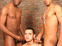 Twink double teamed by 2 black dicks gay