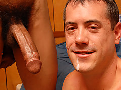 Interracial gay blowjob assfucking cums in mouth