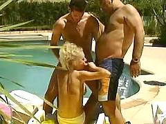 Blonde serves two dudes
