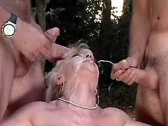 Mature nurse gets cumload