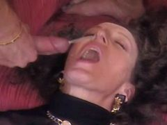 Mature gets DP and double cumload