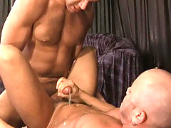 Two hot studs enjoying blowjob and intense anal action