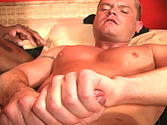 Interracial gay blowjob assfucking jerkoff