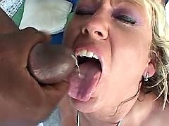 Blonde nurse swallow warm sperm after hard fuck
