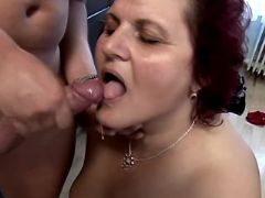 Old whore crazy fucked and gets cum