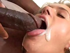 Horny brother force feeds his cock to a slut