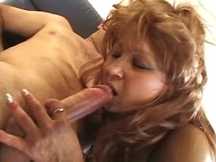 Horny mom fucked on sofa