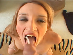 Raunchy slut Heather Pink sucking a hard dick in these vids