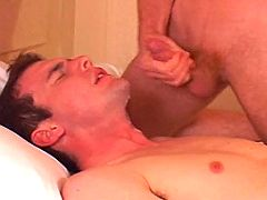Handsome stud gets good ass nailing and sticky cum