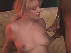 Milf getting cum on tits afterl sex