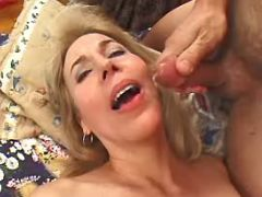 Granny hard fucked and gets cumload