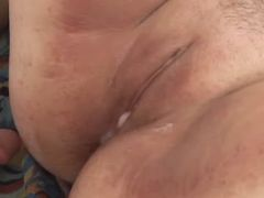 Chubby whore gets fuck and creampie