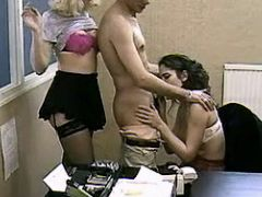 Secretaries seduces boss